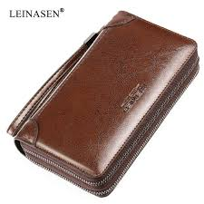 <b>New</b> Genuine Leather <b>Multifunctional Long</b> Wallet Cow Leather ...