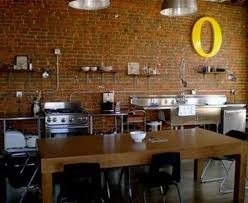 kitchen brick walls modern kitchen and dining area with old brick wall design