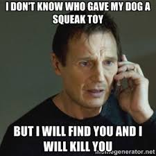 I don't know who gave my dog a squeak toy but I will find you and ... via Relatably.com