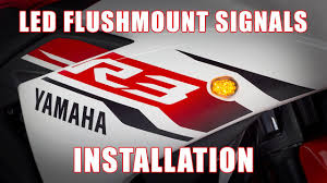 How to install <b>LED Flushmount</b> Signals on a 2015+ Yamaha YZF R3 ...