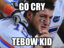 Crying Tebow memes | quickmeme via Relatably.com