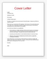 Cover Resume Samples Military Cover Letter Example
