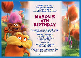 the lorax birthday just shy of perfection lorax party invitation