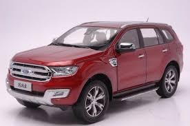 <b>1:18 Diecast Model for</b> Ford Everest Endeavour Red SUV Alloy Toy ...