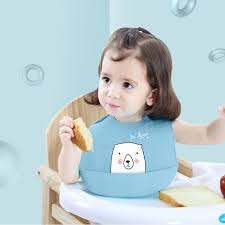 Baby Boy Girl Waterproof Bib <b>Cartoon Prints Kids Silicone</b> Bib Baby ...