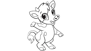 Small Picture Baby cow coloring printable