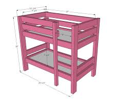 american girl bunk bed plans bed plans diy amp blueprints american furniture patterns