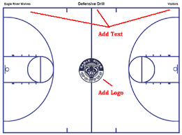 basketball court diagrams and templates   free printablebasketball court diagram instructions   full court