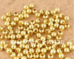 2019 5mm Round Gold Plated Alloy Spacer Charms Finding Loose ...