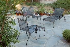wrought iron patio furniture sets chaise black wrought iron patio