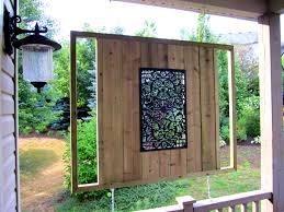 designs outdoor wall art: wall art outdoor privacy design ideas wooden pole fence backyard design relax smlfimage via