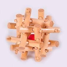 Puzzles Homyl Magic Box Wooden Puzzle Game <b>Luban Lock</b> IQ ...