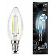 <b>103801207</b>-<b>S Лампа Gauss</b> LED Filament Candle E14 7W 4100К ...