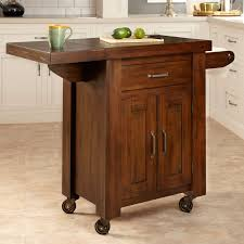 leaf kitchen cart: narrow kitchen island furniture dark wood kitchen cart on wheels