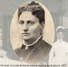 Linda Richards was born on a farm near the Racquette River in West Potsdam on July ... - Potrait_of_Linda_Richards_before_leaving_for_England__1877