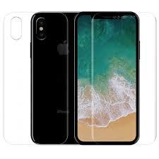 Купить <b>Защитная пленка</b> для Apple iPhone X (передняя и <b>задняя</b> ...