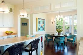 breakfast area ideas kitchen transitional with white wood round dining table breakfast area lighting