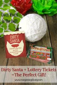 dirty santa lottery tickets the perfect gift easy peasy pleasy dirty santa gift ideas using lottery tickets plus printable gifts tags to match