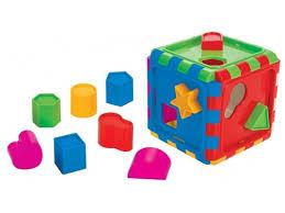 Купить <b>игрушку</b>-сортер Сборный куб с геометрическими ...