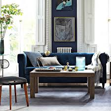 view in gallery blue tufted upholstered sofa the versatile power of blue furniture finds blue furniture