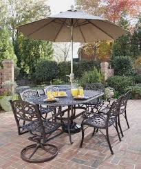patio dining: furniture ideas patio dining set with umbrella and swivel patio chairs and curved patio table