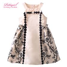 2016 newest pettigirl kids design flower pattern princess girl summer dress retail baby girl frock designs baby girl dress designs
