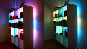 ikea led color changing lights color changing led light base bookcase lighting ideas