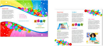 brochure daycare brochure template daycare brochure template images medium size