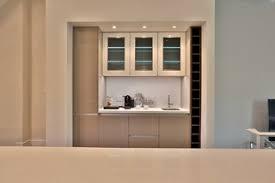 Modern <b>high</b>-<b>gloss</b> lacquered bar/beverage/<b>coffee</b> area ...