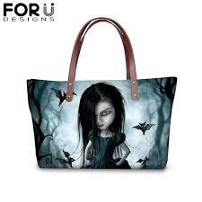 FORUDESIGNS Cool Gothic Girl Printing Tote Handbags for <b>Women</b> ...