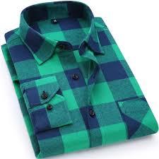 <b>2019 New Mens Plaid</b> Shirt 100% Cotton High Quality Mens ...