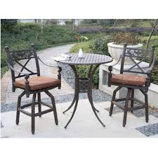 attractive amp comfortable bar height patio set recalls roman designs outdoor pub table chair set attractive rod iron patio