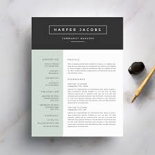 modern resume template and cover letter template for word 128270zoom