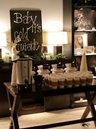 a hot chocolate and coffee bar for the wedding as people unique diy coffee station