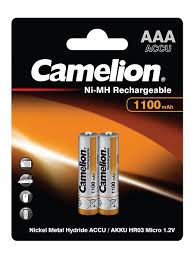 Аккумуляторы NH-AAA1100BP2, <b>ААА</b>, 2шт. <b>Camelion</b> 8148329 в ...