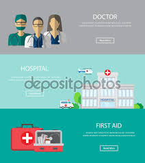 medical ad hospital banner web page design stock vector medical background infographics elements design for one page website business banner cover page brochure template vector illustration vector by