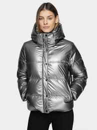 <b>куртка женская</b> - d4z20-kudp204-74s - серебро - <b>outdoor</b> - 4f