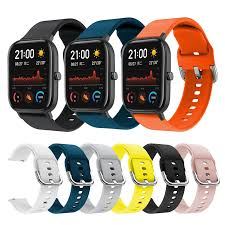 8Colors Silicone <b>Strap</b> For Huami amazfit GTS 20mm <b>Strap Pure</b> ...