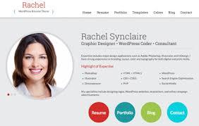 rachel   wordpress resume theme for cv and personal websitesrachel  wordpress resume theme