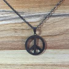 <b>HOBBORN Trendy</b> Men Pendants & Necklaces Classic Peace ...