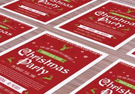 christmas flyer design template collection for  5 christmas flyer mock up psd