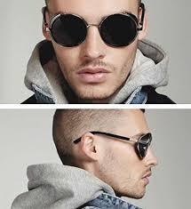 Buy Pomo-Z <b>Fashion</b> Round Vintage <b>Sunglasses</b> Steampunk <b>Man</b> ...