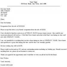 formal resignation letter  reason