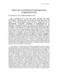 essay 2 film production and mass communication pdf essay 2 film production and mass communication pdf communication theater arts 1003 scheide at university of arkansas fayetteville studyblue