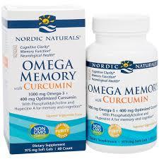 <b>Omega Memory with Curcumin</b> (60 Softgels) by Nordic Naturals at ...