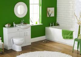 small bathroom color choice green accent wall white subway tiles white furniture bathroom accent furniture