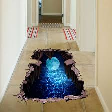 <b>NEW 3d</b> Cosmic Space <b>Wall Sticker</b> Floor Sticker Galaxy Star Home ...