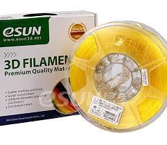 Катушка <b>пластика PLA</b> Glass eSun 1.75 мм 1 кг., <b>желтый</b> ...