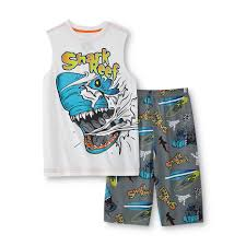 joe boxer boy s warm weather pajamas shark reef clothing joe boxer boy s warm weather pajamas shark reef clothing boys clothing boys pajamas
