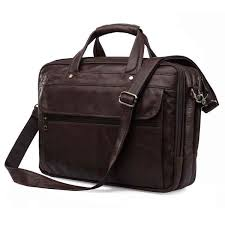 Nesitu <b>Black</b> Coffee <b>Large</b> Capacity Genuine <b>Leather Men Briefcase</b> ...